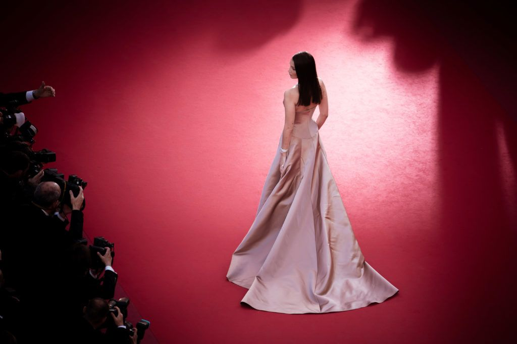 CANNES, FRANCE - MAY 11:  (EDITORS NOTE: Image has been digitally retouched)  Model Bella Hadid attends the screening of 'Ash Is The Purest White (Jiang Hu Er Nv)' during the 71st annual Cannes Film Festival at Palais des Festivals on May 11, 2018 in Cannes, France.  (Photo by Francois G. Durand/Getty Images)