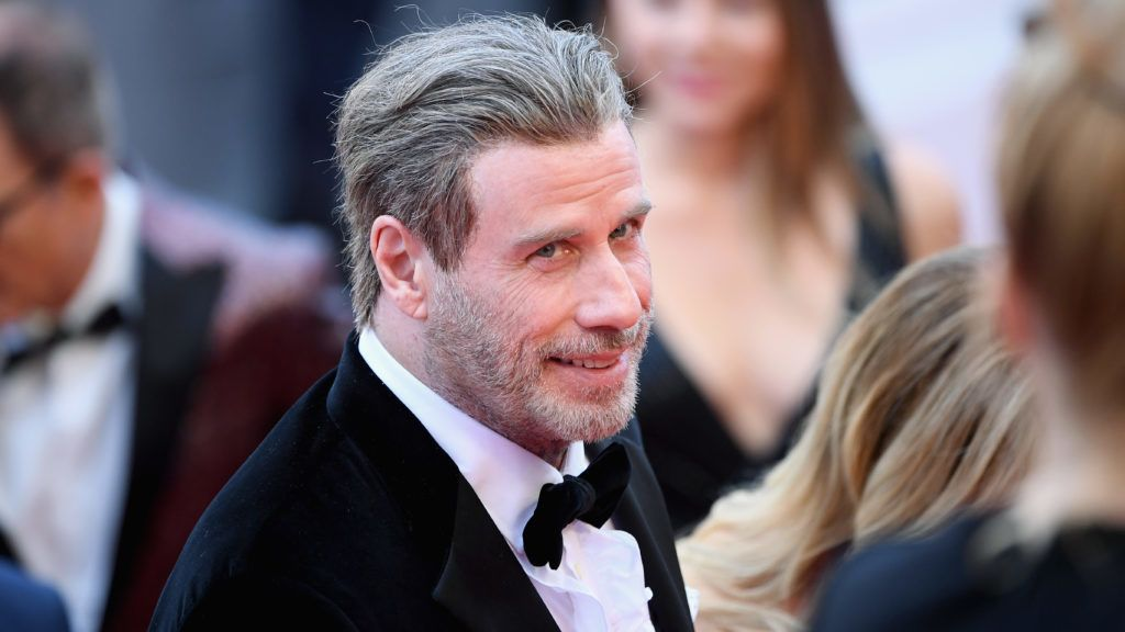 """CANNES, FRANCE - MAY 15:  John Travolta of """"Gotti"""" attend the red carpet screening of """"Solo: A Star Wars Story"""" during the 71st annual Cannes Film Festival at Palais des Festivals on May 15, 2018 in Cannes, France.  (Photo by Gareth Cattermole/Getty Images)"""