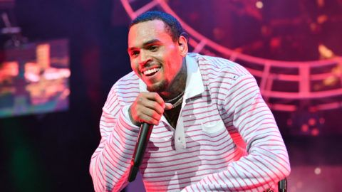 LOS ANGELES, CA - JUNE 22:  Chris Brown performs at 2018 BET Experience Staples Center Concert, sponsored by COCA-COLA, at L.A. Live on June 22, 2018 in Los Angeles, California.  (Photo by Earl Gibson III/Getty Images for BET)