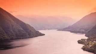 Tourism vacation and travel. Fjord landscape near Bergen, island Osteroy, Norway Scandinavia Europe. Beautiful nature