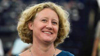 Strasbourg, 2018. szeptember 11. Judith Sargentini holland zöldpárti képviselõ, a nevét viselõ Sargentini-jelentés vitáján az Európai Parlament plenáris ülésén, Strasbourgban 2018. szeptember 11-én. (MTI/EPA/Patrick Seeger)