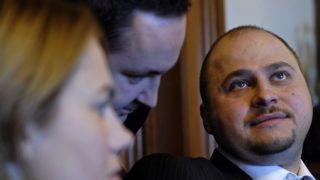 Bukarest, 2008. február 20. Olosz Gergely, az energiaárakat szabályozó hatóság (ANRE) elnöke meghallgatáson vesz részt a román képviselõház Ipari Bizottsága elõtt Bukarestben 2008. február 20-án. (MTI/Médiafax/Andrea Balaurea)