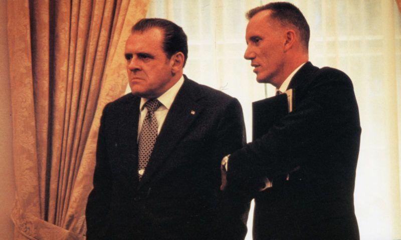 Nixon  Nixon   Year: 1995 - usa  Anthony Hopkins, James Woods   Director: Oliver Stone