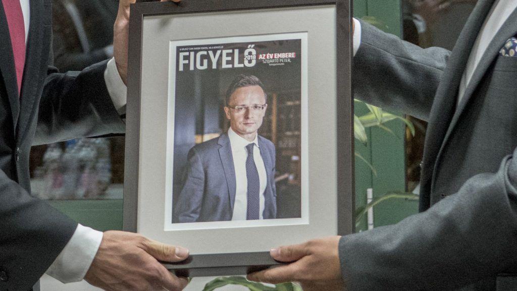 A Figyelő magazin 2018 Év emberének választotta Szijjártó Péter külgazdasági és külügyminisztert  Fotó:KKM/Burger Zsolt
