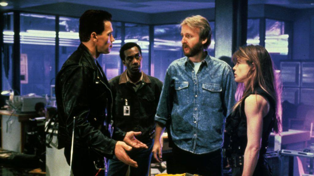 Terminator 2  Judgment day 1991 Real  James Cameron Arnold Schwarzenegger Linda Hamilton Joe Morton James Cameron. COLLECTION CHRISTOPHEL © Kassar / Pacific Western