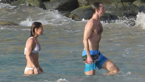 Allround rates of 25 gbp/image or 100 gbp/set apply for ONLINE usage.Pippa Middleton and husband James Matthews are seen taking a swim on January 2th 2019 in St Barts. January 2, 2019