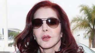 Thursday, January 10, 2019:  Priscilla Presley was spotted at LAX, escpaing LA in a dark outfit and movie star sunglasses.  NicePapGio/X17online.com January 10, 2019