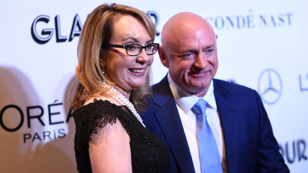 NEW YORK, NY - NOVEMBER 12: Gabrielle Giffords and Mark Kelly attend the 2018 Glamour Women Of The Year Awards: Women Rise on November 12, 2018 in New York City.   Bryan Bedder/Getty Images for Glamour/AFP