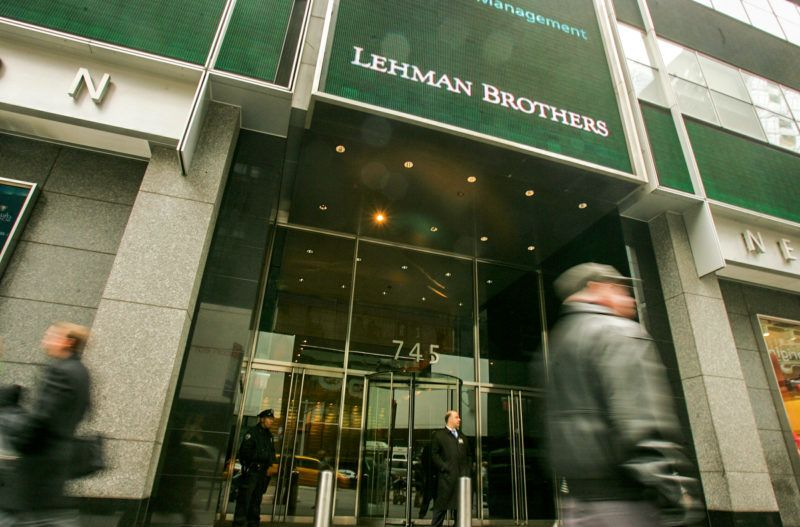 The headquarters of Lehman Brothers is shown in Times Square on March 18, 2008 in New York. Lehman posted a 57 percent decline in first quarter profits however, beating analysts expectations.  Hiroko Masuike/Getty Images/AFP =FOR NEWSPAPERS,INTERNET,TELCOS AND TELEVISION USE ONLY=