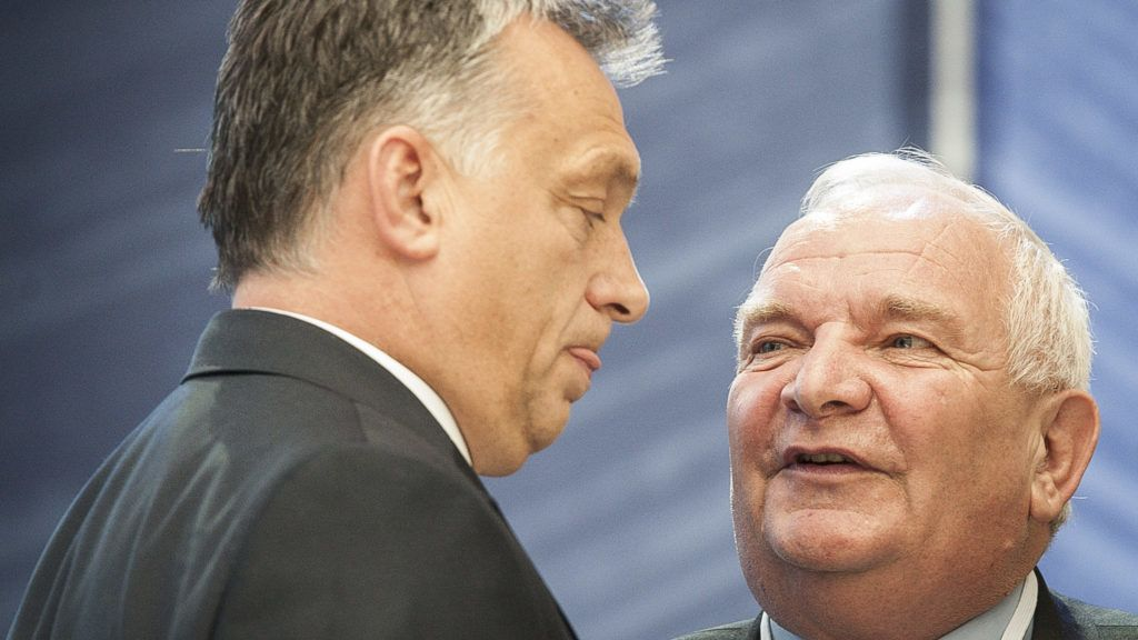 Joseph Daul, President of the EPP French politician and member of the Union for a Popular Movement, UMP  (R) talks with Hungarian Prime Minister Viktor Orban during second day of  EPP European People Party head of states congress in Madrit, Spain on 22.10.2015 by Wiktor Dabkowski