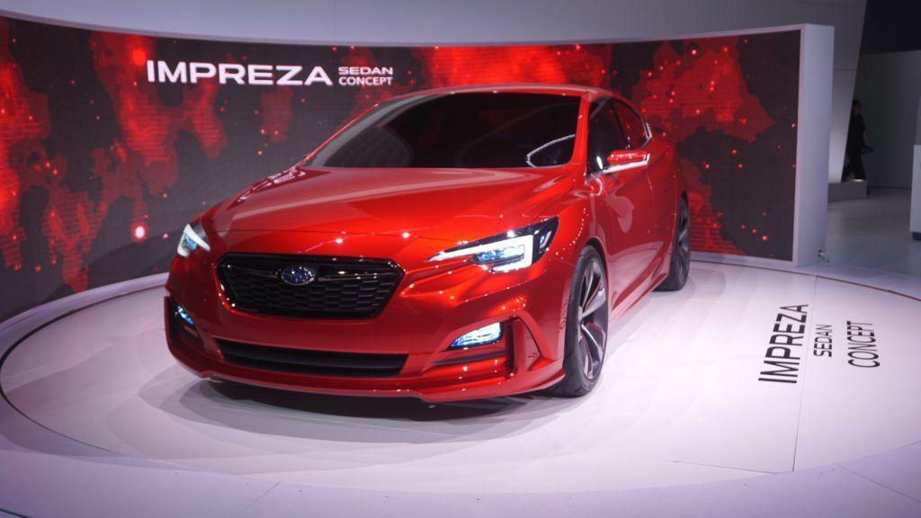 LOS ANGELES, USA - NOVEMBER 18: Subaru Impreza Sedan is seen during Auto show at the LA Convention center in Los angeles, USA on November 18, 2015. Mintaha Neslihan Eroglu / Anadolu Agency