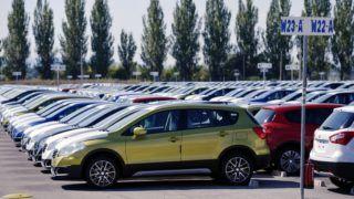 Esztergom, 2013. szeptember 6. SX4 S-CROSS típusú autók a Suzuki esztergomi gyárában 2013. szeptember 6-án. MTI Fotó: Beliczay László
