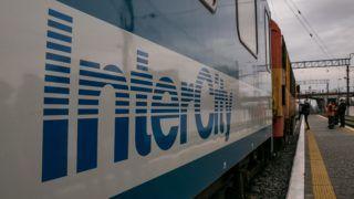 Munkács, 2018. december 9. A Munkács és Budapest között közlekedõ Latorca IC indulás elõtt a munkácsi vasútállomáson 2018. december 9-én. Elindult a két város között a normál nyomtávon közlekedõ közvetlen InterCity járat, a korábbi 9 és fél óráról 7 órára csökkent a menetidõ. MTI/Nemes János