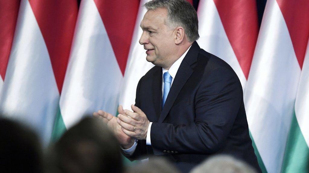 Budapest, 2019. február 10. Orbán Viktor miniszterelnök hagyományos évértékelõ beszéde után a Várkert Bazárban 2019. február 10-én. MTI/Koszticsák Szilárd