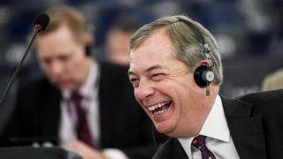 Strasbourg, 2019. január 16. Nigel Farage, a Szabadság és Közvetlen Demokrácia Európája euroszkeptikus képviselõcsoport brit vezetõje a brit EU-tagság megszûnésérõl (Brexit) folytatott vitán az Európai Parlament üléstermében, Strasbourgban 2019. január 16-án. Elõzõ nap a brit alsóház 230 szavazat többséggel elutasította a  kormány és az Európai Unió közötti Brexit-megállapodást. MTI/EPA/Patrick Seeger