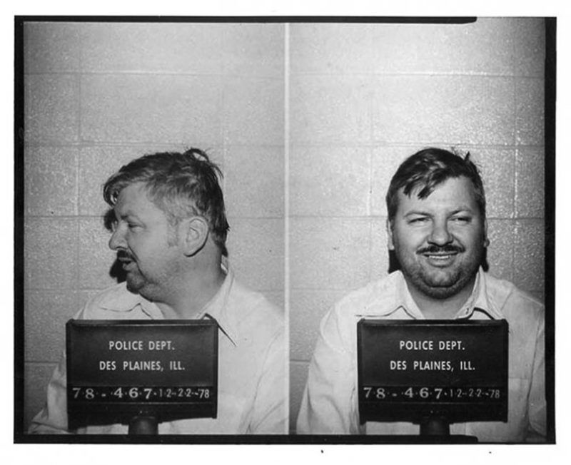 Serial killer John Wayne Gacy posed for the above Des Plaines Police Department mug shot in December 1978. (Photo by Bureau of Prisons/Getty Images)