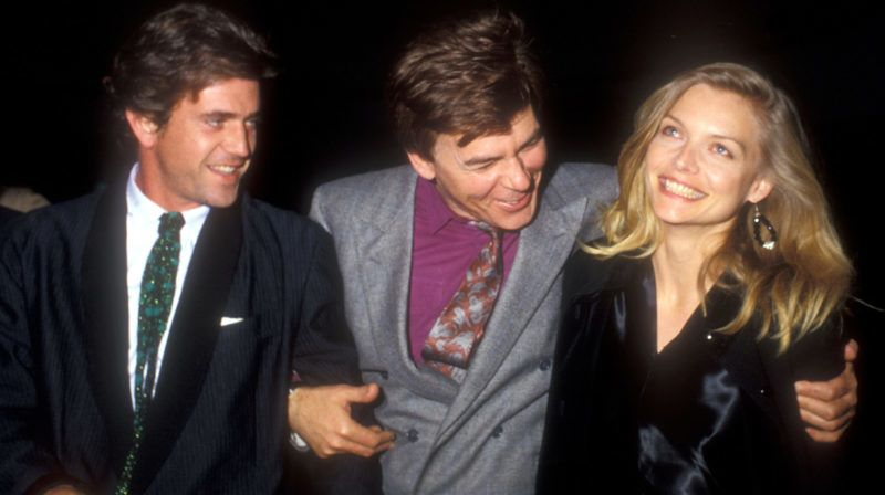 Mel Gibson, Ed Limato and Michelle Pfeiffer (Photo by Barry King/WireImage)