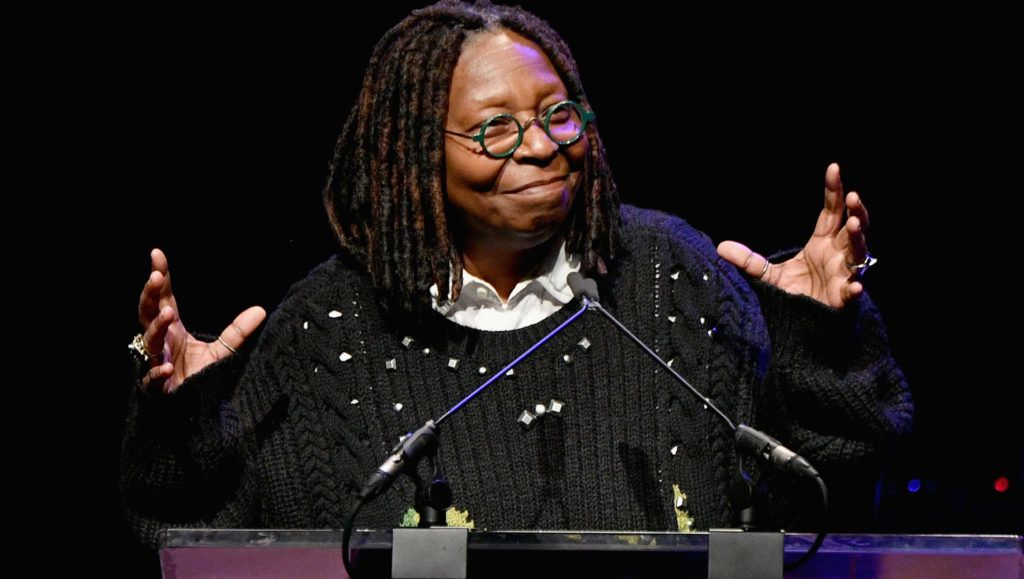 NEW YORK, NY - NOVEMBER 29:  Whoopi Goldberg speaks onstage at the Lincoln Center Fashion Gala - An Evening Honoring Coach at Lincoln Center Theater on November 29, 2018 in New York City.  (Photo by Dia Dipasupil/Getty Images  for Lincoln Center)