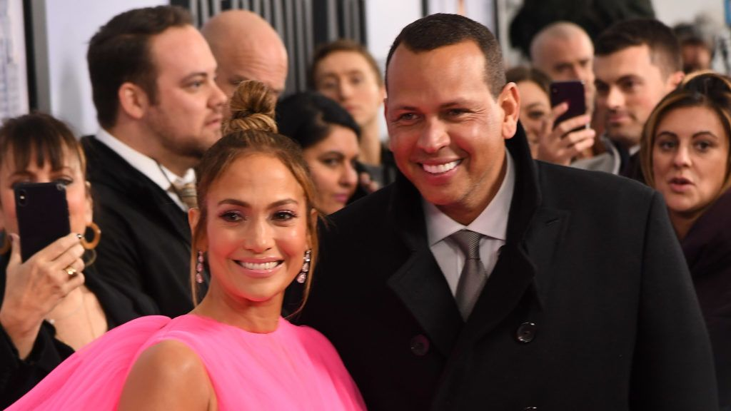 """NEW YORK, NY - DECEMBER 12:  Jennifer Lopez and Alex Rodriguez attend the world premiere of """"Second Act"""" at Regal Union Square Theatre, Stadium 14 on December 12, 2018 in New York City.  (Photo by Nicholas Hunt/Getty Images)"""