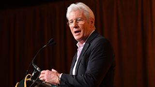 NEW YORK, NY - JANUARY 08:  Richard Gere speaks onstage during The National Board of Review Annual Awards Gala at Cipriani 42nd Street on January 8, 2019 in New York City.  (Photo by Dia Dipasupil/Getty Images for National Board of Review)