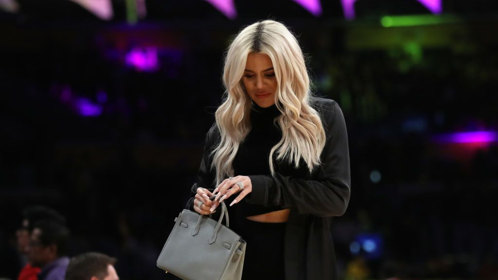LOS ANGELES, CA - JANUARY 13:  Khloé Kardashian leaves an NBA game between the Cleveland Cavaliers and the Los Angeles Lakers during the second half of a game at Staples Center on January 13, 2019 in Los Angeles, California.  NOTE TO USER: User expressly acknowledges and agrees that, by downloading and or using this photograph, User is consenting to the terms and conditions of the Getty Images License Agreement.  (Photo by Sean M. Haffey/Getty Images)