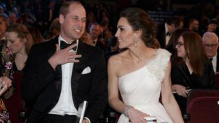 LONDON, ENGLAND - FEBRUARY 10: Prince William, Duke of Cambridge and Catherine, Duchess of Cambridge attend the EE British Academy Film Awards at Royal Albert Hall on February 10, 2019 in London, England. (Photo by Tim Ireland - WPA Pool/Getty Images)