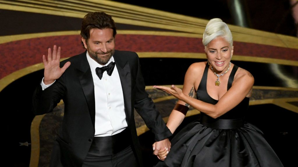 HOLLYWOOD, CALIFORNIA - FEBRUARY 24: (EDITORS NOTE: Retransmission with alternate crop.) (L-R) Bradley Cooper and Lady Gaga perform onstage during the 91st Annual Academy Awards at Dolby Theatre on February 24, 2019 in Hollywood, California. (Photo by Kevin Winter/Getty Images)