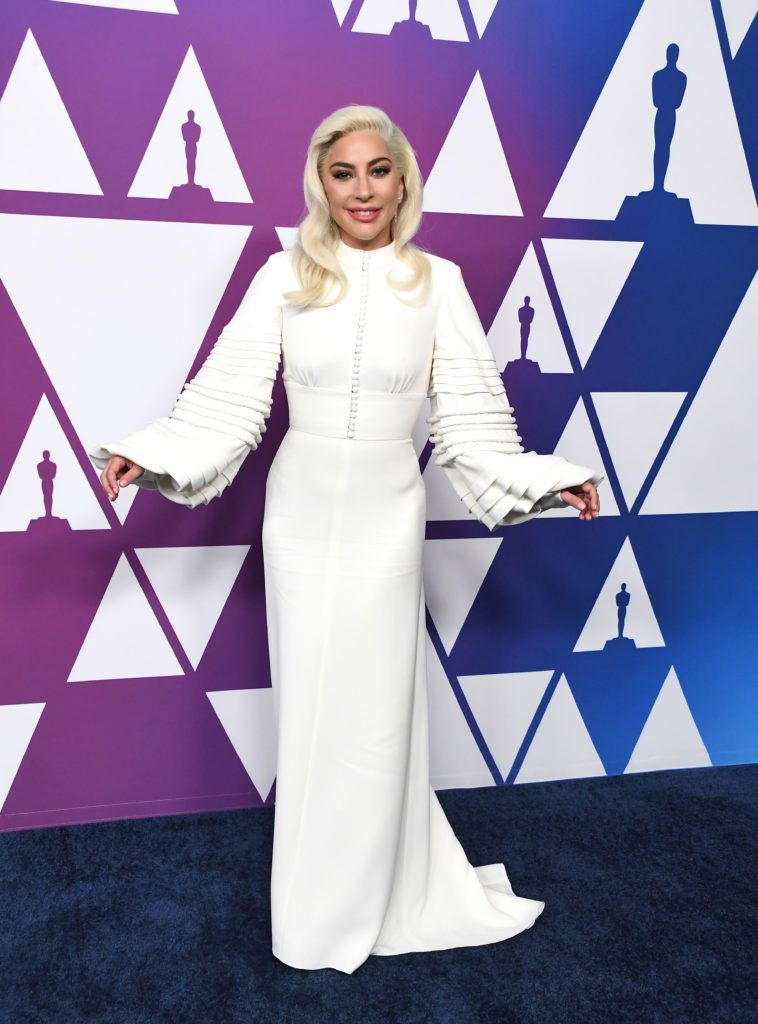 BEVERLY HILLS, CALIFORNIA - FEBRUARY 04: Lady Gaga arrives at the 91st Oscars Nominees Luncheon at The Beverly Hilton Hotel on February 04, 2019 in Beverly Hills, California. (Photo by Steve Granitz/WireImage,)