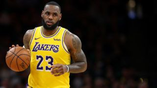 BOSTON, MASSACHUSETTS - FEBRUARY 07:  LeBron James #23 of the Los Angeles Lakers dribbles against the Boston Celtics during the second half at TD Garden on February 07, 2019 in Boston, Massachusetts. NOTE TO USER: User expressly acknowledges and agrees that, by downloading and or using this photograph, User is consenting to the terms and conditions of the Getty Images License Agreement. (Photo by Maddie Meyer/Getty Images)