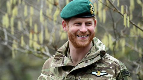 PLYMOUTH, ENGLAND - FEBRUARY 20: Prince Harry, Duke of Sussex, Captain General Royal Marines, visits 42 Commando Royal Marines at their base in Bickleigh to carry out a Green Beret presentation at Dartmoor National Park on February 20, 2019 in Plymouth, England. (Photo by Finnbarr Webster/Getty Images)