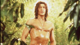 """1997 Brendan Fraser stars in the new movie """"George of the Jungle""""."""