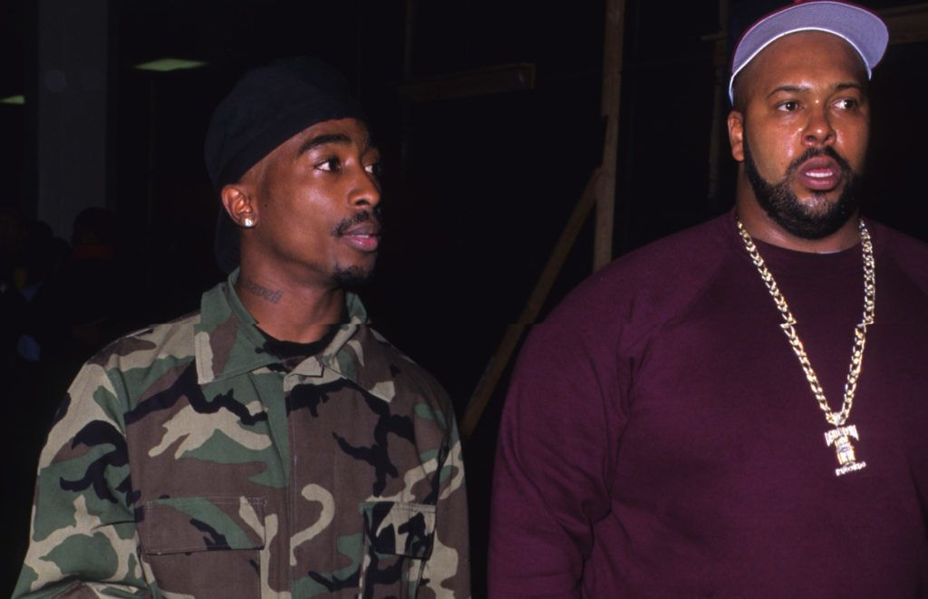 Tupac Shakur and Marion 'Suge' Knight (Photo by S. Granitz/WireImage)