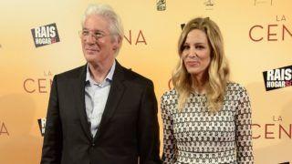 MADRID, SPAIN - DECEMBER 11:  (L-R) Richard Gere and Alejandra Silva attend the 'La Cena' (The Dinner) premiere at the Capitol cinema on December 11, 2017 in Madrid, Spain.  (Photo by Fotonoticias/WireImage)