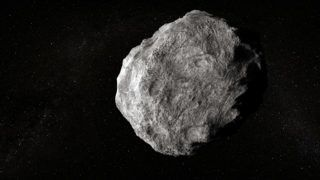 Large planetoid in empty space