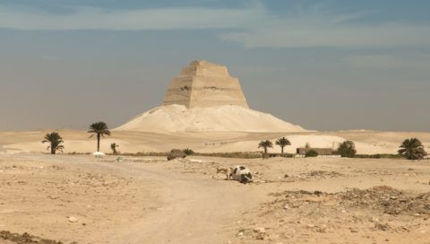 """""""Ancient and partially collapsed pyramid of Meidum, Cairo, Egypt"""""""