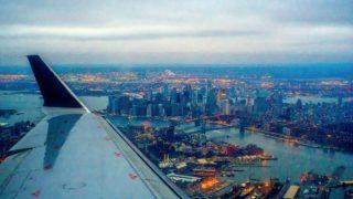 Aerial View of  Manhattan New York