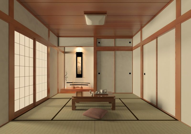 A peaceful Japanese style living room