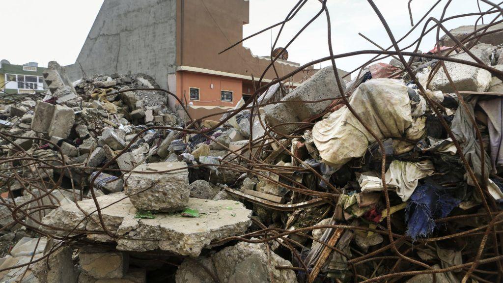 Bartella, 2019. február 11. Keresztény család egykori házának romjai az Iszlám Állam dzsihadista terrorszevezet elleni harcok színterén, az észak-iraki Bartellában 2019. január 18-án. Két évvel az után, hogy a várost felszabadították az Iszlám Állam uralma alól, az egykor itt élõ 3800 keresztény családnak kevesebb mint az egyharmada tért vissza, tartva a sabak síita nemzeti kisebbségtõl, amelynek tagjai alkotják a várost uraló milícia többségét. Az itteni keresztények nagy része most Erbíl keresztény elõvárosában, Ankavában lakik. MTI/AP