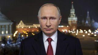 Moszkva, 2019. január 1. Vlagyimir Putyin orosz elnök újévi beszéde közben Moszkvában 2019. január 1-jén. MTI/EPA/Szputnyik/Kreml/Pool/Mihail Klimentyev