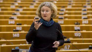 Brüsszel, 2019. január 31. Az Európai Parlament honlapján közreadott képen Judith Sargentini holland zöldpárti képviselõ felszólal a jogállamiság magyarországi helyzetérõl tartott vitán a parlament plenáris ülésén Brüsszelben 2019. január 30-án. MTI/Európai Parlament/Jan Van de Vel