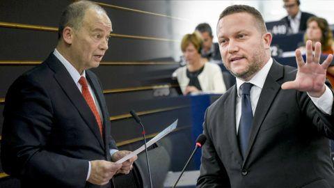 Brüsszel, 2019. január 31.Az Európai Parlament honlapján közreadott képen Szanyi Tibor szocialista képviselő felszólal a jogállamiság magyarországi helyzetéről tartott vitán a parlament plenáris ülésén Brüsszelben 2019. január 30-án.MTI/Európai Parlament/Jan Van de Vel