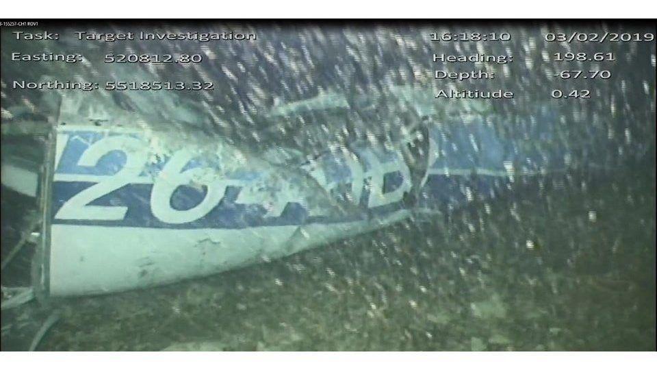 La Manche-csatorna, 2019. február 4. A British Air Accidents Investigation Branch (AAIB) által 2019. február 4-én közreadott kép az Emiliano Salát, a walesi Cardiff City újonnan szerzõdtetett argentin labdarúgóját szállító N264DB kisrepülõgéprõl a La Manche-csatorna fenekén. Az új csapatához, a walesi Cardiff Cityhez utazó Sala kisrepülõgépe 2019. január 21-én tûnt el a La Manche fölött. MTI/EPA/AAIB