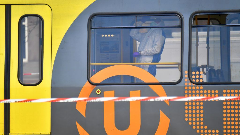 Forensic search in the tram at 24 Oktoberplein, in Utrecht, on March 18, 2019 after a shooting that killed at least 3 people and injured nine. - A gunman opened fire on a tram in the Dutch city of Utrecht on Monday, killing three people and wounding several others in what officials said was a possible terrorist attack. Armed counter-terrorism police launched a huge manhunt for the attacker, urging local residents in one of the Netherlands' biggest cities to stay indoors in case of further incidents. (Photo by Robin Utrecht / ANP / AFP) / Netherlands OUT