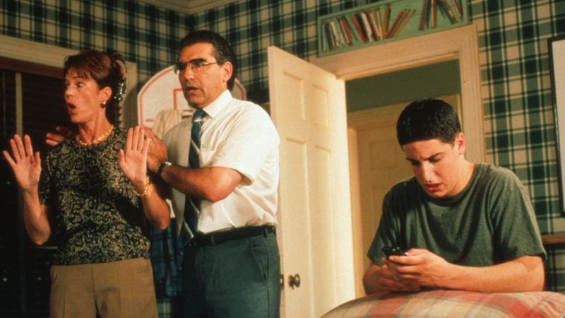 American Pie  American Pie   Year: 1999 - USA  Jason Biggs ,Eugene Levy, Molly Cheek   Directed by Paul Weitz