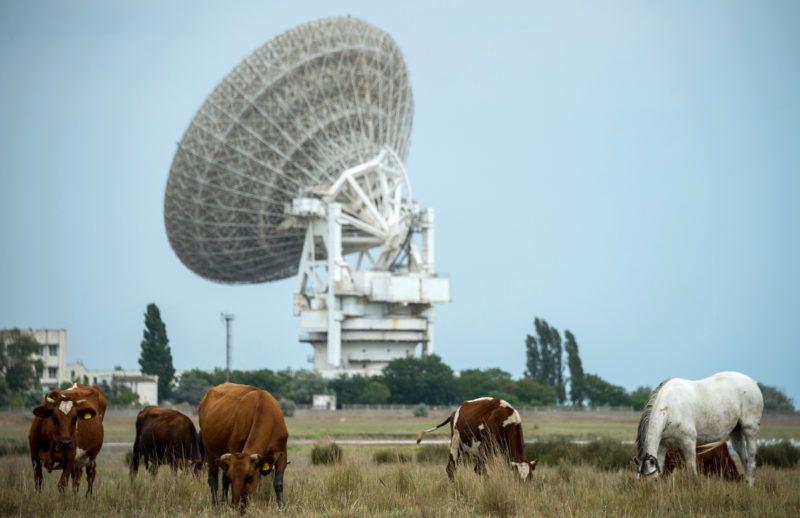 5614986 24.07.2018 The P-2500(RT 70) radio telescope at the Center for Deep Space Communication near Yevpatoria. Alexey Malgavko / Sputnik