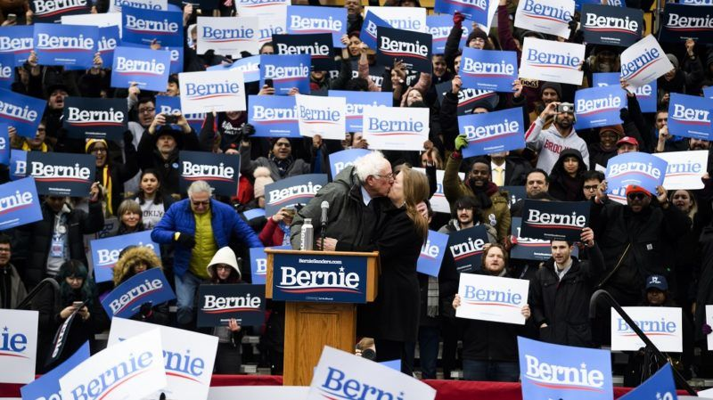 US Senator Bernie Sanders addresses a rally to kick off his 2020 US presidential campaign on March 2, 2019 in the Brooklyn borough of New York City. (Photo by Johannes EISELE / AFP)