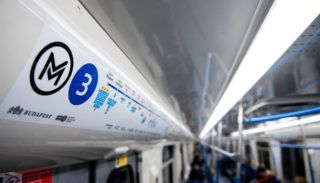 Budapest, 2017. március 20. Az M3-as vonalon közlekedõ elsõ felújított metrószerelvény Budapesten 2017. március 20-án. MTI Fotó: Balogh Zoltán