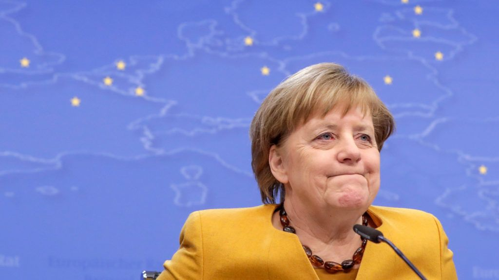 Brüsszel, 2019. március 22. Angela Merkel német kancellár az EU-tagországok állam-, illetve kormányfõinek kétnapos találkozóját követó sajtóértekezleten Brüsszelben 2019. március 22-én. MTI/EPA/Stephanie Lecocq