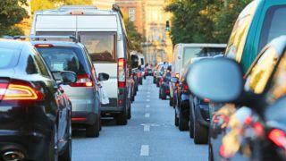 traffic jam in Hamburg