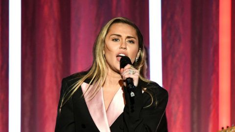"""BEVERLY HILLS, CA - FEBRUARY 28:  Miley Cyrus performs onstage during WCRF's """"An Unforgettable Evening"""" at the Beverly Wilshire Four Seasons Hotel on February 28, 2019 in Beverly Hills, California.  (Photo by Michael Kovac/Getty Images for WCRF)"""